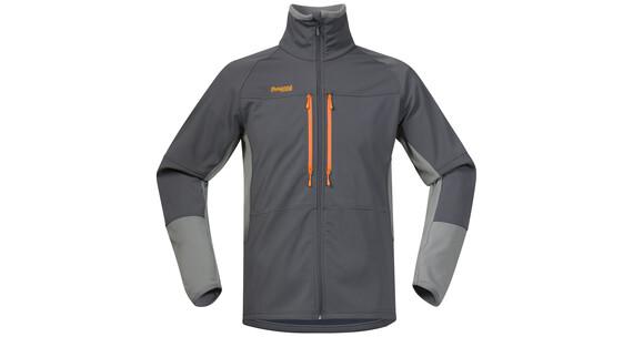 Bergans M's Visbretind Jacket Solid Dark Grey/Solid Grey/Pumpkin